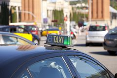 Taxi Barcelona Royalty Free Stock Photo