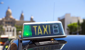 Taxi in Barcelona stock photography