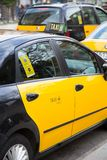 Taxi Barcelona Stock Photography