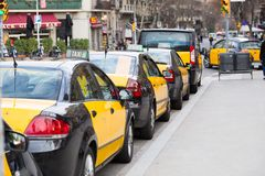 Taxi Barcelona Royalty Free Stock Photography