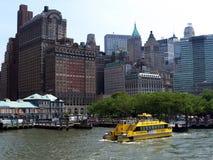 taxi bateryjna nowa ny parkowa woda York Zdjęcie Royalty Free