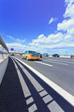 Taxi on Beijing Airport expressway Stock Images