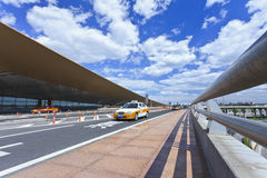 Taxi at Beijing Capital Airport Royalty Free Stock Images