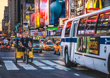 Taxi bikes at Times Square, New York Royalty Free Stock Photography