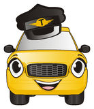 Taxi in black hat Fotografie Stock