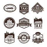 Taxi Black Label Set Royalty Free Stock Photography