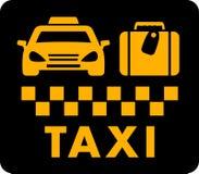Taxi blazon on black icon Stock Photo