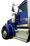 Taxi bleu de camion Image libre de droits