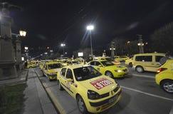 Taxi blokują centrum przy 24 Marzec, 2016 w Sofia, Bułgaria Zdjęcia Stock