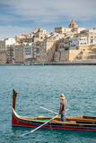 Taxi boat in Malta Stock Images