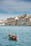 Taxi boat in Malta Royalty Free Stock Photos