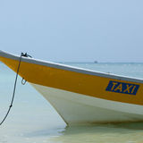 Taxi boat at sea Stock Photos