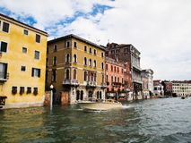Taxi boat service at Venice Grand Canal Italy Royalty Free Stock Photography
