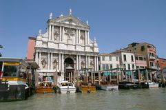 A Venice taxi boat station Stock Photography