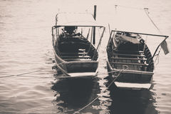 Taxi-boat thailand in black&white Royalty Free Stock Photo