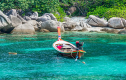 Taxi boat in the tropical  sea Stock Image