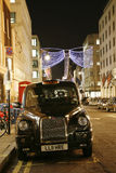 Taxi in the Bond Street Stock Image