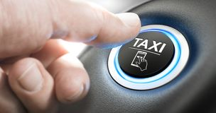 Taxi Booking Service Stock Photography