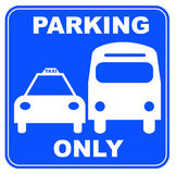 Taxi and bus parking Stock Images