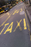 Taxi and bus station. Stand for taxi and bus public transport in Belgrade Stock Images