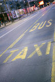 Taxi and bus station. Stand for taxi and bus public transport in Belgrade Royalty Free Stock Photo