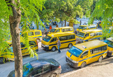 The taxi buses Stock Photo