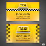 Taxi business card Stock Photo