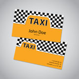 Taxi business card with cab symbol Royalty Free Stock Image