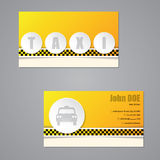 Taxi business card with 3d buttons Royalty Free Stock Image