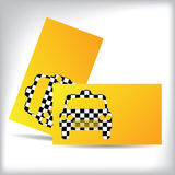 Taxi business card design with cutout car shape Royalty Free Stock Photography