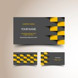Taxi business card set Stock Photos
