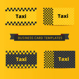 Taxi business card template of yellow and black color. Cab layout Stock Image