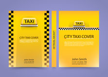 Taxi business card, Traffic cover, A4 size paper, Vector illustration. Taxi business card, Traffic cover background, A4 size paper Royalty Free Illustration