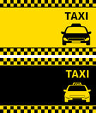 Taxi business card Royalty Free Stock Photo
