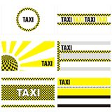 Taxi business cards 90 x 50 mm Stock Images