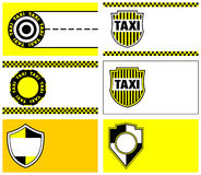Taxi business cards 90 x 50 mm Royalty Free Stock Image