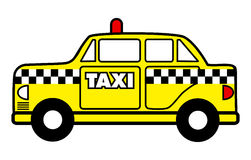 Taxi cab. Cartoon vector illustration of a taxi cab Royalty Free Stock Image