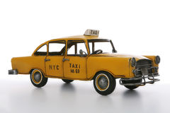 Taxi Cab. An old vintage taxi cab over a white background stock image