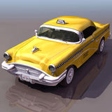 Taxi Cab. Computer graphic Taxi Cab stock illustration