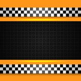 Taxi cab background close up vector illustration