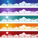 Taxi Cab Banner Set Stock Photo
