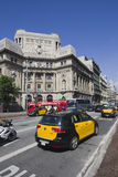 Taxi cab in Barcelona, Spain Royalty Free Stock Image