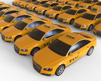 Taxi Cab Fleet concept Stock Images