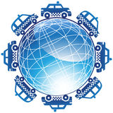 Taxi Cab Globe Icon Royalty Free Stock Photography