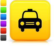 Taxi cab icon on square internet button Royalty Free Stock Photography
