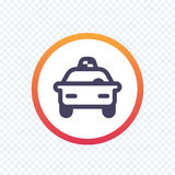 Taxi, cab line icon Royalty Free Stock Photo