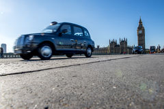 Taxi cab in London city Stock Photos