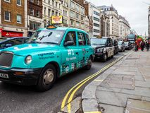 Taxi cab in London, hdr Royalty Free Stock Images