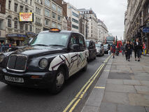 Taxi cab in London Royalty Free Stock Images