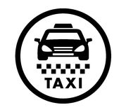 Taxi cab services icon Royalty Free Stock Photography